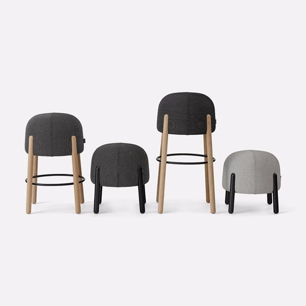 +HALLE Sally Stool, is a versatile stool series available in 4 different heights. The compact size and low weight makes it easy to move around and increases its versatility and functionality.