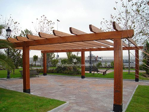 17 best images about ideas para patio y jardin on - Pergolas para patios ...