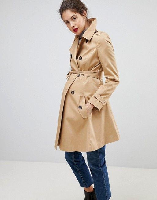 731aa1442a1fd DESIGN Maternity classic trench coat   Wish List 2018 - 2019   Classic  trench coat, Asos maternity, Maternity Fashion