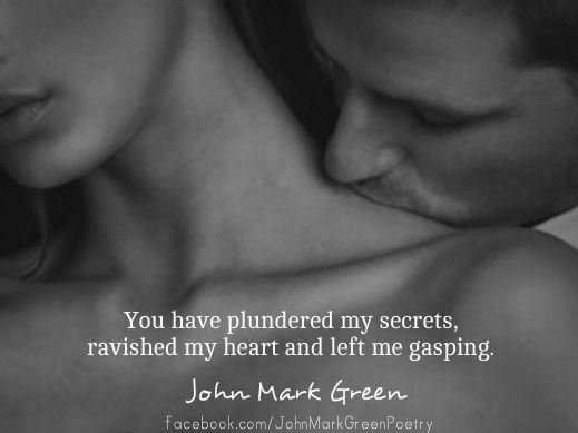 Romantic love quote by John Mark Green - from Love's Endless Circle