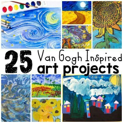 25 Van Gogh Inspired Art Projects for Kids - Play Ideas