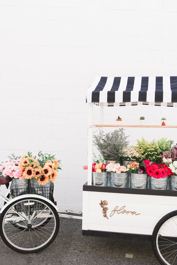 Flora Flower Cart selling make your own bouquets in