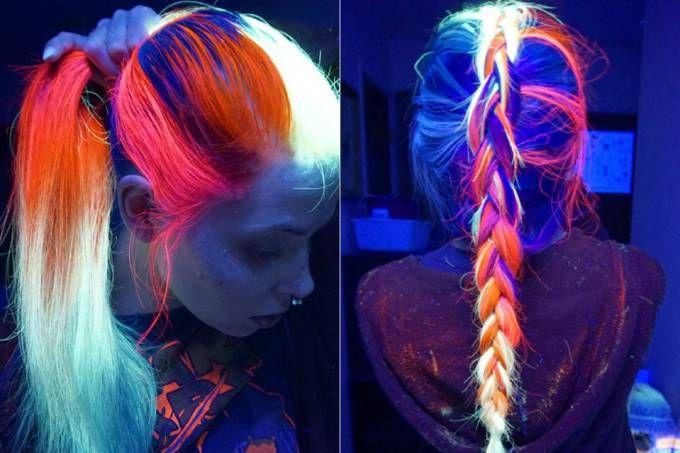 Este produto faz com que o seu cabelo colorido fique fluorescente