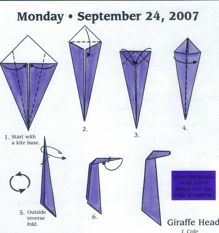 Origami Giraffe Instructions - photo#19