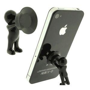 3D Man Stand Hercules Mobile Phone Holder - Orange