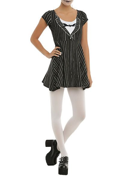 The Nightmare Before Christmas Jack Skellington Cosplay Skater Dress | Hot Topic