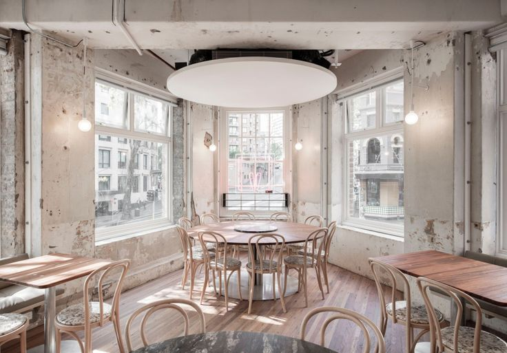 Designed by George Livissianis, this is a Sydney restaurant, not a Melbourne one.