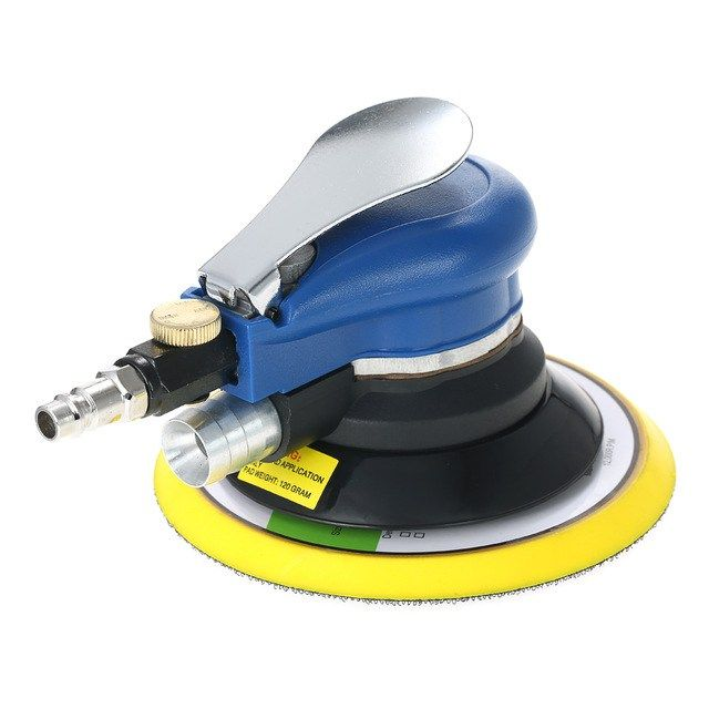6 10000rpm Pneumatic Palm Random Orbital Sander Polisher Air Powered