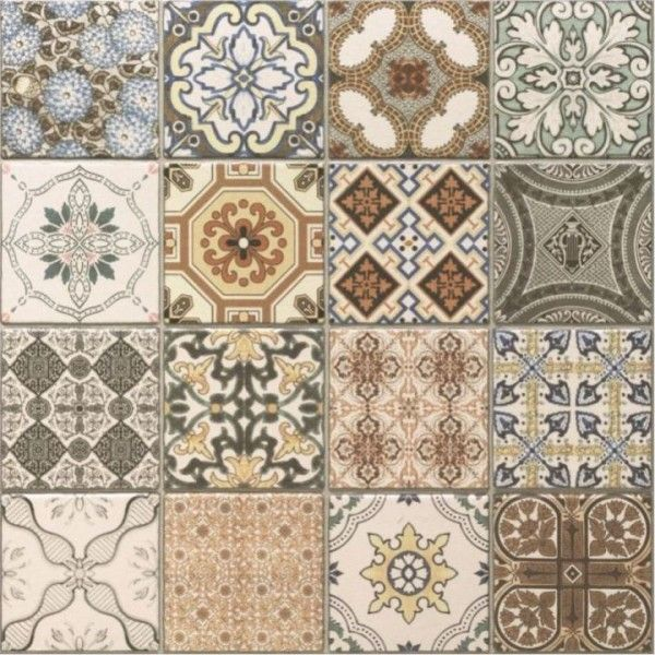 An example tile from the elegant and patchwork Provence Rustic range. (http://www.directtilewarehouse.com/provence-rustic-tiles-decor-tiles/)