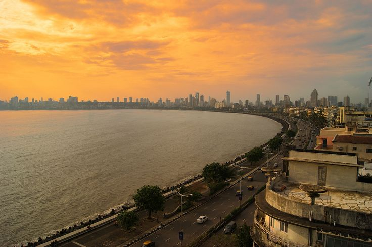 Marine Drive, Mumbai - #Marinedrive is the heart of #Mumbai. This is the famous tourist attractions in monsoon. It is also known as the #Queensnecklace , because the street lights at night looks like the string of pearls. #wanderlust