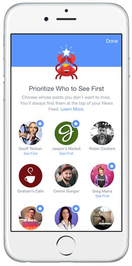 Facebook's ever-changing News Feed algorithm has morphed again, this time with the introduction of new tools that allow users to select whose content they see first, find new pages to connect to, unfollow people to hide their posts and reconnect with people they've unfollowed.