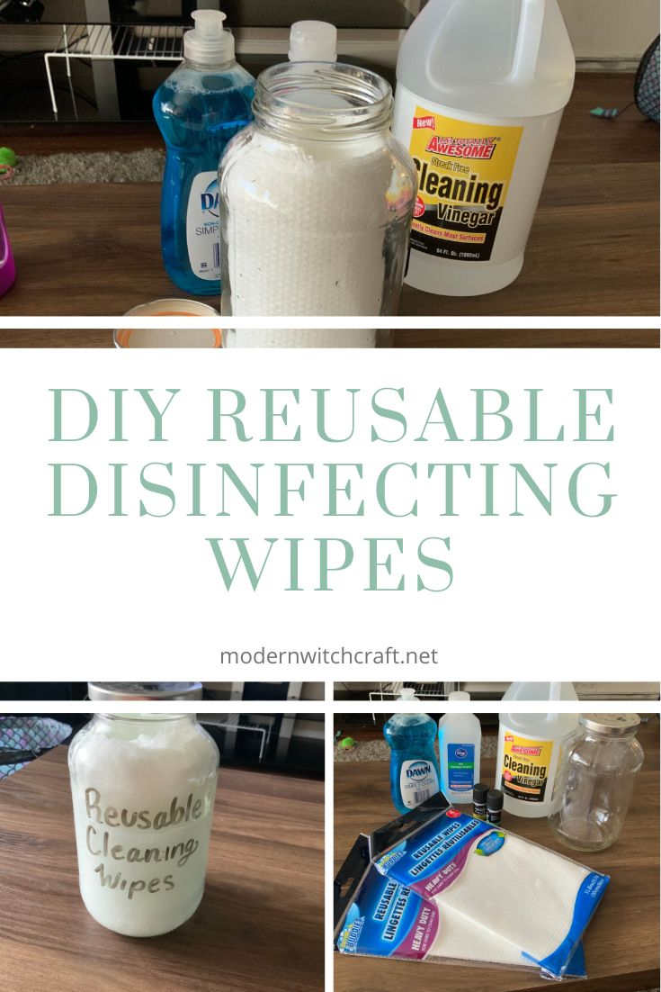 How to make your own DIY Reusable Disinfecting wipes