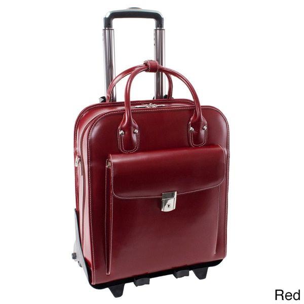 McKlein La Grange Leather Vertical Detachable Rolling Laptop Case | Overstock.com Shopping - The Best Deals on Rolling Laptop & Tablet Cases