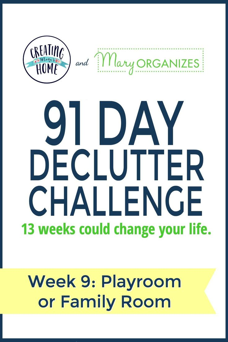 Week 9 – Playroom & Family Room {91 Day Declutter Challenge} - creatingmaryshome.com