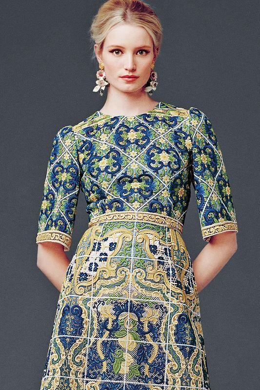 Женская коллекция Dolce&Gabbana осень-зима 2014-2015