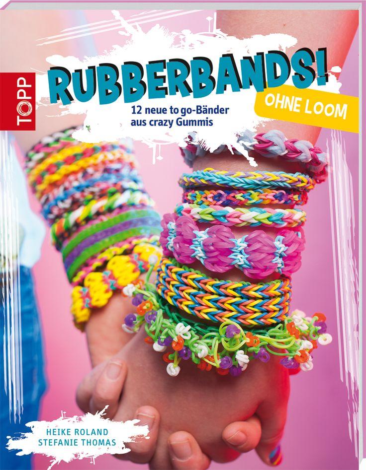 Rubberbands! ohne Loom - 12 neue to-go-Bänder für crazy Gummis