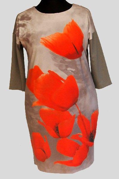Sukienka z motywem maków