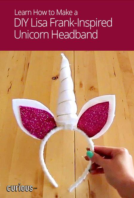 DIY Lisa Frank-Inspired Unicorn Headband