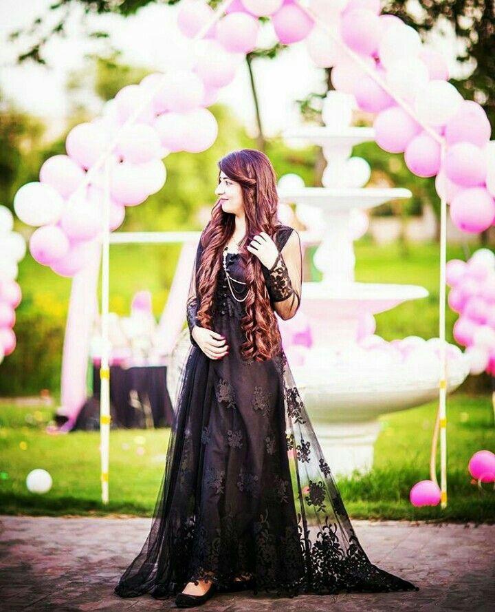 Girl In Black Dress Cutedp In 2019 Beautiful Dresses