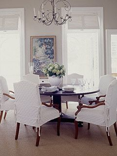 Emejing White Dining Room Chair Covers Ideas House Designs