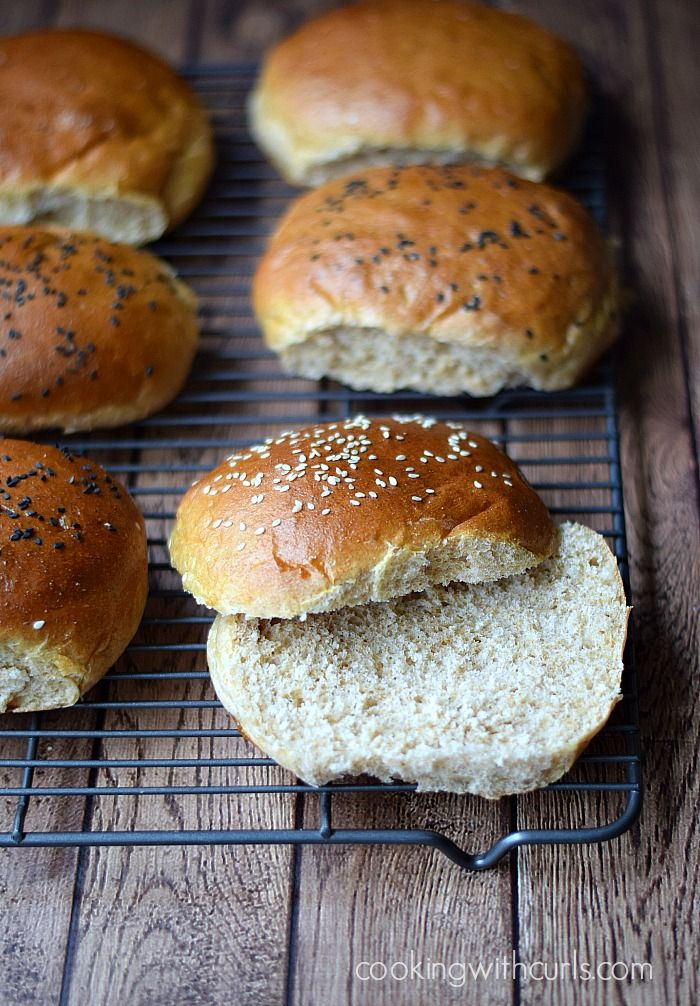Make your own - Whole Wheat Hamburger Buns. Must try these!  by Cooking With Curls