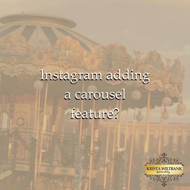 """H/T to @MollyMarshallMarketing for bringing this gem to my attention! ⚜ Instagram has a carousel (multiple image) feature in a beta release for Android users, according to a report from @Verge. They're able to add up to 10 images/videos in one gallery, and apply effects to them collectively or individually. Instagram users will be able to like individual photos in the carousel. ⚜ What does this mean for marketing? You can put all creative for an organic campaign -- or multiple photos for an event -- into one Instagram gallery. Instagram-specific campaigns just got some new options. I'd be very surprised if this concept didn't have roots in the carousel ad format, as well as Facebook photo albums. ⚜ I also think this is going to put the perfect """"Insta-worthy"""" photo trend on steroids. It can be hard enough to get one """"Insta-worthy"""" photo... and now up to 10 at a time? Brush up on your mobile photography and photo editing skills, pronto! ⚜ What do you think about this new development? Share your thoughts in the comments below."""