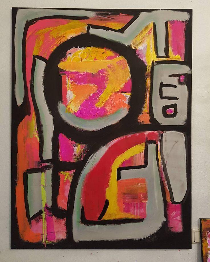 #artistgabgalerieangelabuchhorn #galerieangelabuchhorn #berlin #art #artwork #kunstwerk #kunst #malerei #abstrakt #acryl #painting #gemälde #coloured #canvas #modernart #modern #drawing #mixedmediapainting #instaart #red #black #pink #grey #orange...