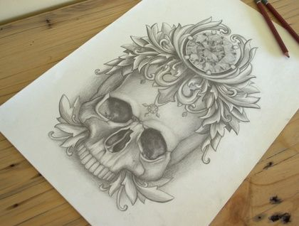 Skull Queen by NZ artist Joanne Bowe.