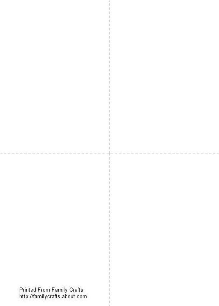 Make Your Own Greeting Cards With This Free Printable Template Printable Cards Blank Card Template Greeting Card Template