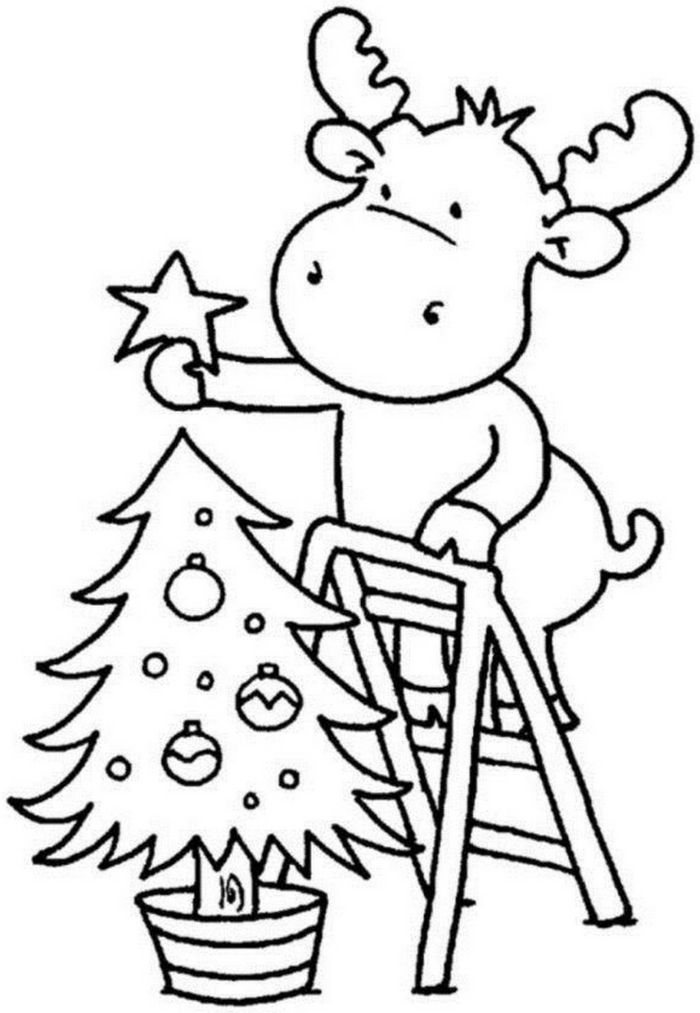 Ideas De Dibujos De Navidad.1001 Ideas De Dibujos Navidenos Para Colorear