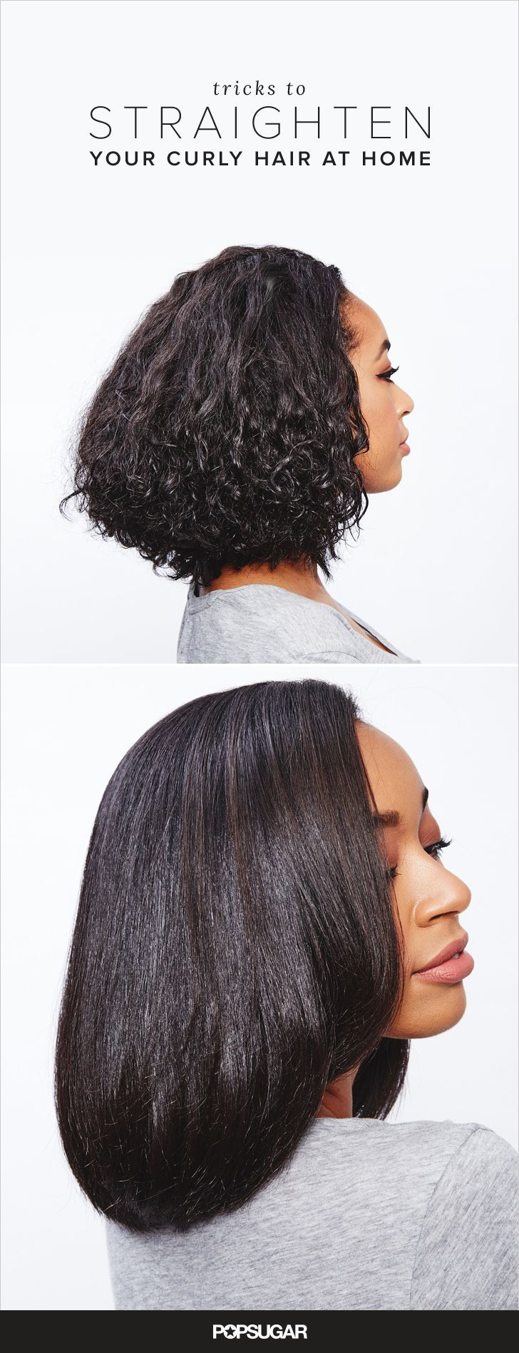 Getting coarse, thick, or curly hair straight requires more than a round brush and blow dryer. Before you trust a blowout bar with your delicate strands, we challenge you to try straightening at home. We've enlisted the help of Johnny Wright, celebrity hairstylist and artistic style director of Amla Legend, to break down the 10 major mistakes you're making when you flat-iron your curls — with easy fixes.