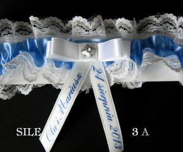 Podwiązka podwiązki ślub personalizowana SILE