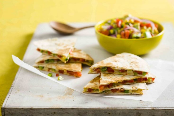 Quesadillas with avocado and tomato salsa | The Heart Foundation