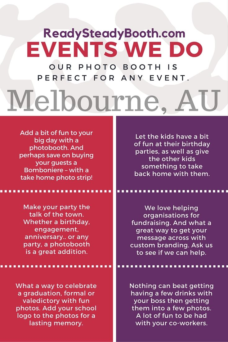 We Operate a Unique, Fun and Stylish Open-Style Photo Booth for Hire in Melbourne for your Special Event. We specialise in photo booth hire for weddings, parties and any other event. With our great pricing and free delivery, our booth will make the perfect addition to your next event!