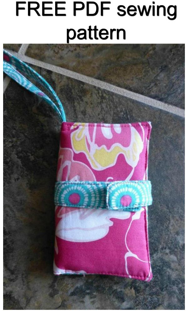 FREE pdf sewing pattern for a phone / ipod case. This cute case with a wrist strap makes it easy to carry and keep you phone and/or iPod safely. Great for iPod, mp3 player, headphones, smaller camera or phone.