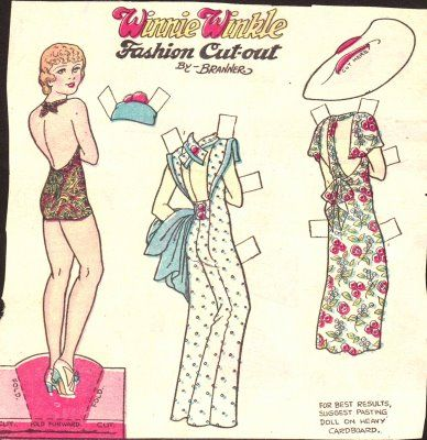 Winnie Winkle, 1930'sAntiques Paper, Dolls Adult, Winnie Winkle, 1930S, Aaa Pap Dolls, Dolls Galore, Paper Dolls A, Paperdolls, Paper Dolls 1