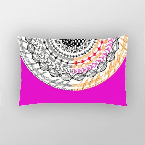 Colourful Geometric Mandala Pillow Cover   Artist : Amulya Jayapal   PosterGully