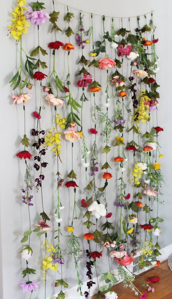 Flower Garland Wall Decor Flower Garland Hanging Flower Garland Wedding Flower Garland Flower Garland Nursery Hanging Flower Backdrop Flower Garland Wedding Garland Nursery Hanging Flowers