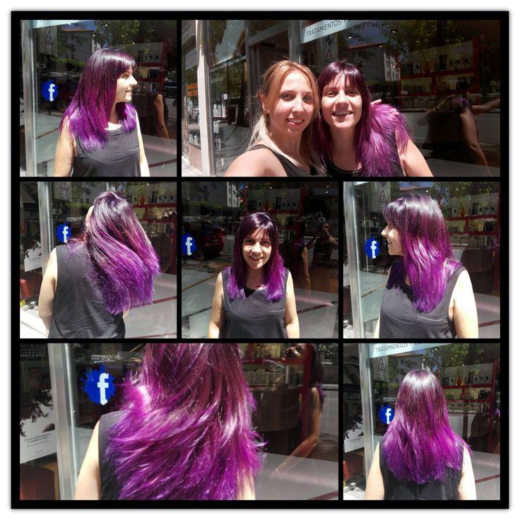 Virginia pega un cambio, prueba elumen, y encantada queda! #elumen #estilistas #ronco #moda #peluqueros #color #creacion #hair
