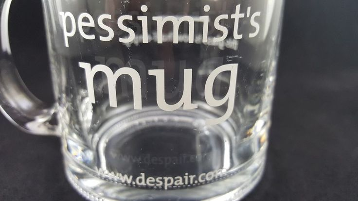 Funny Gag Gift Pessimist This Glass Is Now Half Empty Glass Mug