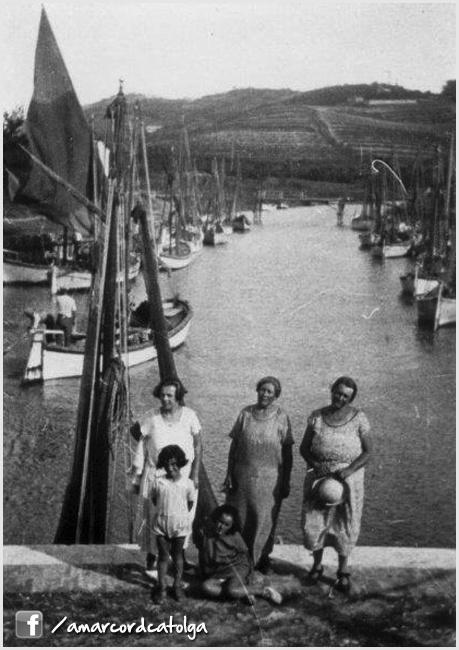 Il porto canale. Cattolica, Italia. Vintage Italian photo