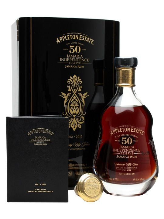 A very special 50 year old rum from Appleton Estate, bottled to commemorate 50 years of Jamaica's independence. The Appleton Estate Jamaica Independence Reserve Rum is limited to just 800 bottles w...
