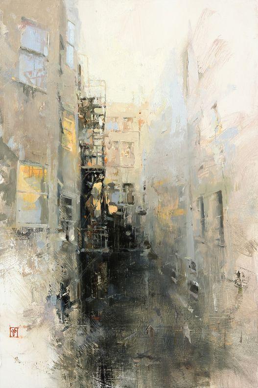 Hsin Yao Tseng (Taiwanese-American, b. 1986, Taipei Taiwan) - Liu Bai No2  Paintings: Oil on Panel