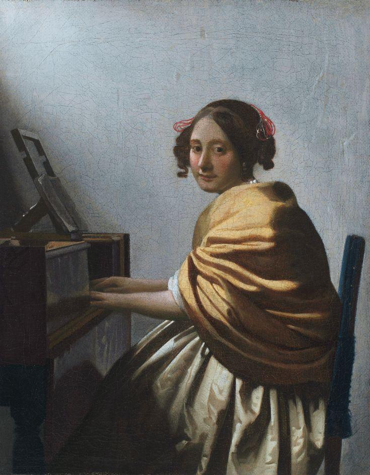 Johannes Vermeer - Zittende vrouw aan het virginaal (1672)