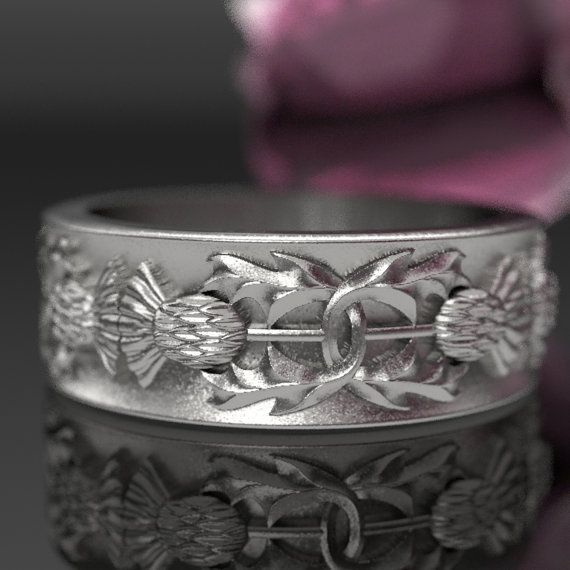 Thistle Ring 925 Sterling Silver Scottish Ring di CelticEternity
