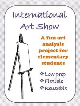 "This workbook provides a fun, simple way to get your students analyzing art. All you need to do is choose and display two pieces of art. Your students will do the rest! The workbook contains a cover sheet, instructions, and 4 pages for your little ""art show judges"" to complete. -No mess-Low prep-Perfect for sub tubs-Great for assessment-Can be used many times each year"