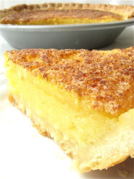 Lemon chess pie recipe with a how to make pie crust tutorial by King Arthur Flour