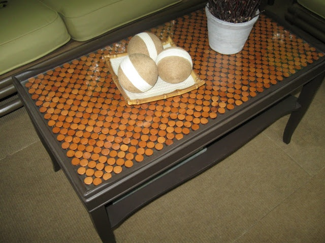 Good Beaded Place Mats Under Glass Coffee Table