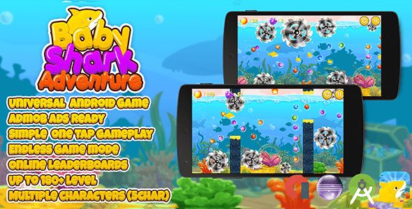 Download Baby Shark Adventure + Admob (Android Studio + Eclipse) Multiple Characters Nulled Latest Version