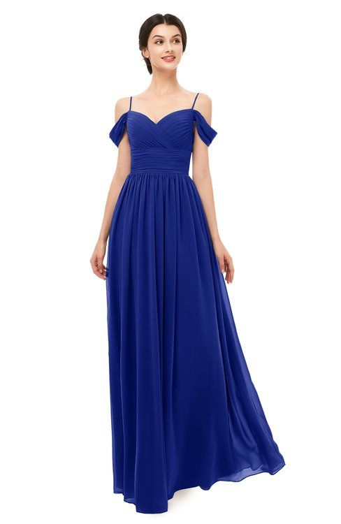 427337862a77 ColsBM Angel Electric Blue Bridesmaid Dresses Short Sleeve Elegant A-line  Ruching Floor Length Backless